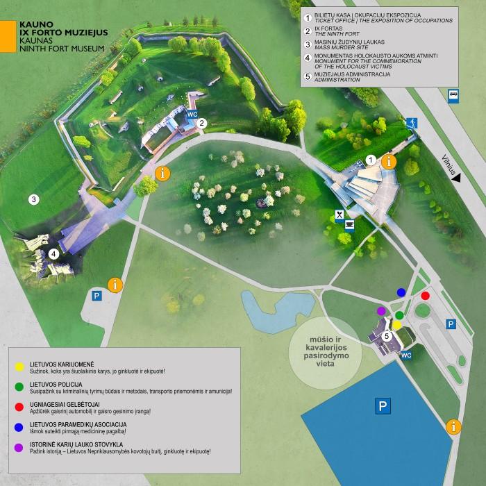 muziejaus teritorijos planas